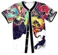 Художественный Джаз Джерси 3D Многоцветный Абстрактного Искусства Граффити Человек Курить Пространство Рубашка Женщины/Мужчины Одежда Тис Верхняя Одежда