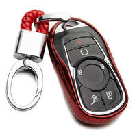 Car Key Protection Case Cover For Chevrolet Tahoe Aveo Onix Silverado Lacetti Trax Sonic Cruze Orlando TPU Key Ring Accessories