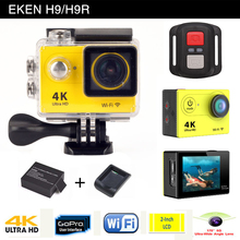 Gopro style D'action caméra EKEN H9 H9R sport kamera à distance 4 K/25fps Ultra HD WiFi 2.0 LCD 170D lentille Casque go pro étanche cam