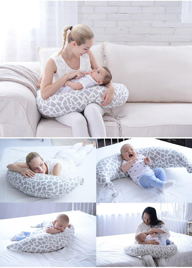 Mother & Kids Baby Bedding Moon Baby Pillow Infant Newborn Toddler Babies Nursing Pillow Kids Room Decoration Children Comfort Big Pillow For Baby Care