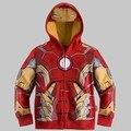 Caliente venta niñas niños niños Spider Man ropa 2Y-8Y Baby Kids Boy de sudaderas con capucha sudadera The Avengers capa de la chaqueta Outwear
