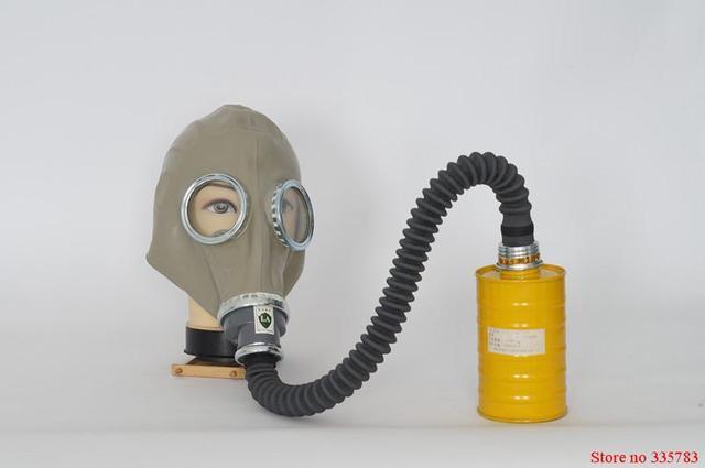 Máscara de gas Respirador mascarilla facial máscara de gas De Goma + 0.5 Tubo de metro + Un Cartucho Del Filtro Máscaras de Gas Establece abti-reflective de monóxido de carbono