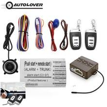 Hot Sale C3 Universal 12 v Dispositivo Anti-roubo de Carro One-Way Sistema de Alarme Sonoro E Alarme Visual Um inicialização chave de Controle Remoto