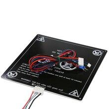 Anet E12 MK3 300*300*3 MM 3d yazıcı ısıtmalı yatak 300x300mm Alüminyum heatbed ile hattı Yükseltilmiş MK3 RepRap i3 3d yazıcı pa...