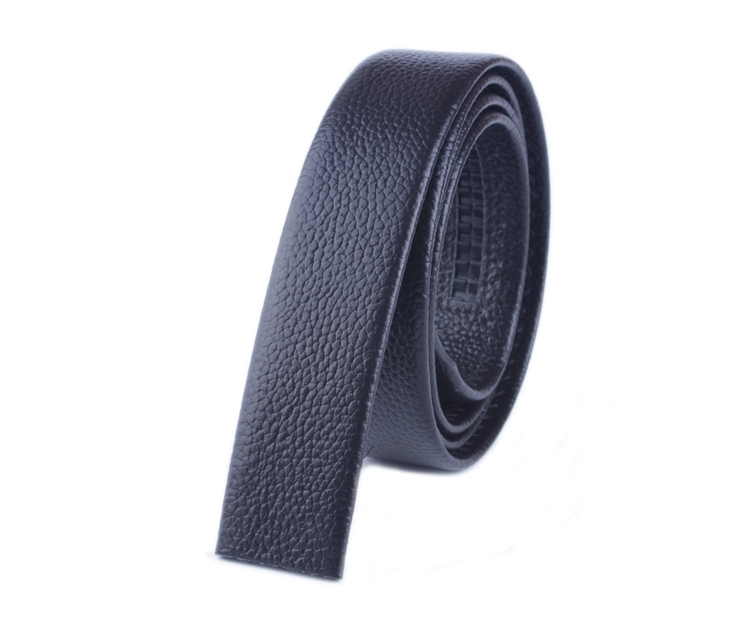 Free shipping Genuine Leather automatic Strap Belt Without Buckle 3.5mm (2 colors )