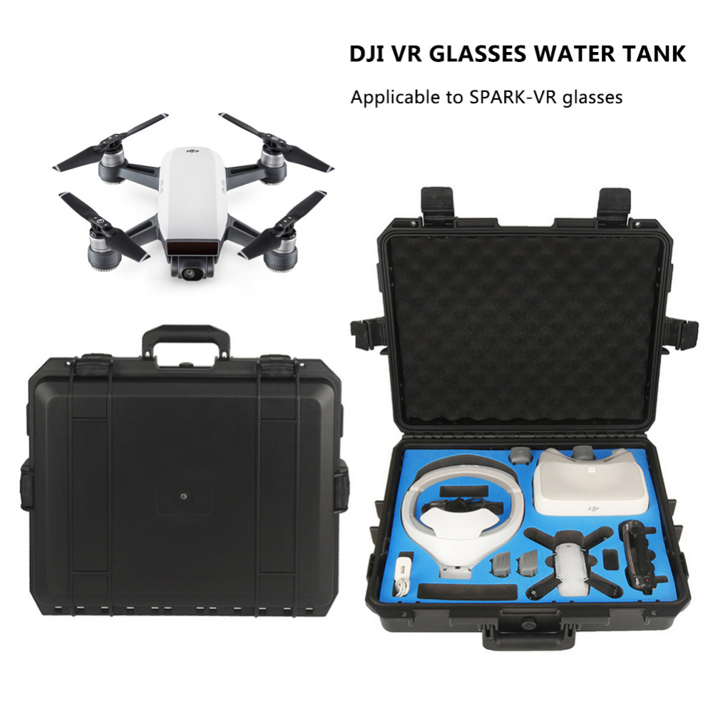 DJI Spark Glasses VR Glasses Box Safety Box Suitcase Waterproof Storage Bag Humidity Suitcase for DJI Spark VR Accessories for dji spark accessory waterproof hardshell backpack abs case bag rc spare parts suitcase box dji spark accessories