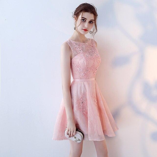 Tienda Online Único Rosa corto Prom Dresses 2018 nuevo Sexy Casual ...