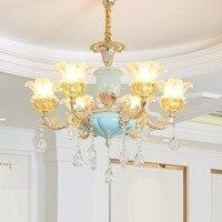 Casa Para Verlichting זוהר נורדי השעיה Luminaire תליית מנורת קריסטל אור דקו Maison Lampara Colgante Hanglamp