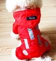 Собака плащ водонепроницаемая куртка с капюшоном непромокаемый плащ Pet пальто одежда собака плащи Pet спортивная с капюшоном розовый размер XS-XL