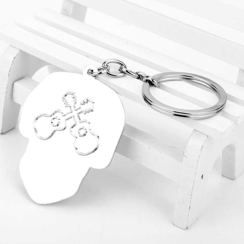 dongsheng Hot Movie Coco Skull Skeleton Keychain Film Llavero Keyring for  Women Men Car Key Jewelry Gift-50