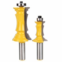 2Pcs Mitered Door Drawer Molding Router Bit 1 2 Shank Router Bits Set For Woodworking Tools