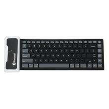 Foldable Waterproof Universal Portable Bluetooth font b Wireless b font Soft Silicone font b Keyboard b