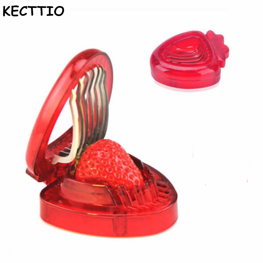 Strawberry Slicer Fruit Vegetable Tools Carving Cake Decorative Cutter Shredder Cooking Kitchen Gadgets Accessories Supplies