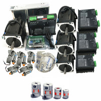 4 Axis CNC kit Nema 34 1230Oz in/5.0A Stepper Motor & 6A/80VDC 256 Microstep motor driver for CNC Milling Machine