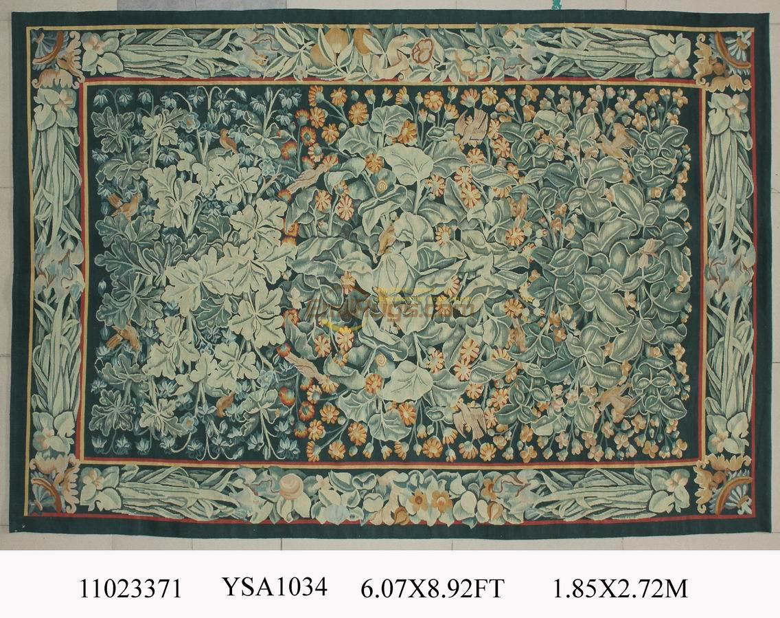 Us 1082 89 Knitting Sofa Blanket Magnificent Carpet Antique French Style Aubusson Carpet Antique French Wool 19th Century Aubusson Carpet In Carpet