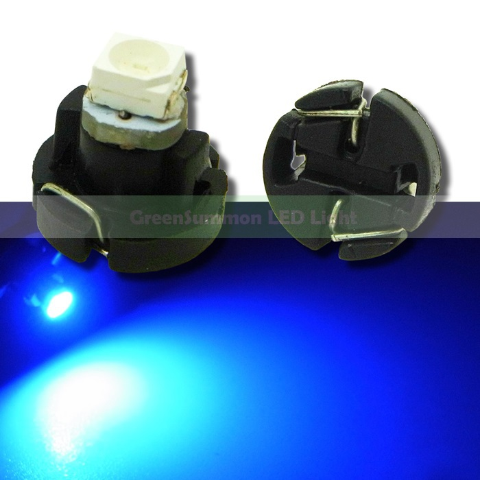 10pcs/lot T3 1 SMD 3528 Car Light LED Blue instrument panel Led Bulb Lamp цена и фото
