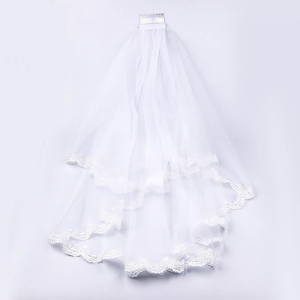 Double Layer Short Bridal Hair Veil  1
