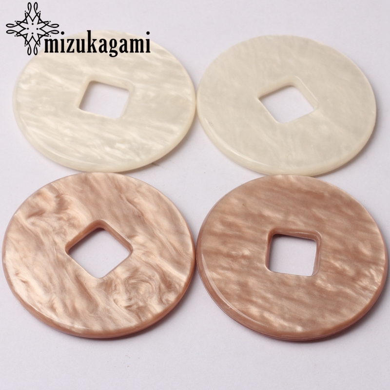 Acetic Acid Resin Exaggerated Round Charms Pendants 48mm 6pcs lot For DIY Drop Earrings Jewelry Making Accessories in Charms from Jewelry Accessories