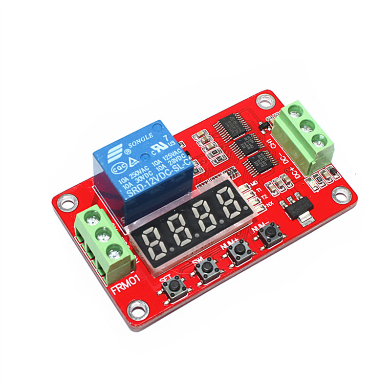12V 1 Channel Multifunction Relay Module Loop Delay / Timer Switch / Self-Locking FRM01 new original dc 12v relay multifunction self lock relay plc cycle timer module delay time switch