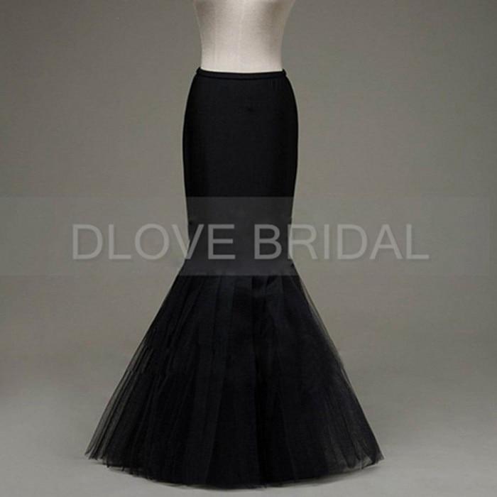 Mermaid Petticoat Slip 1 Hoop Bone Elastic Wedding Gown Crinoline Trumpet High Quality General Size White Dress Accessory