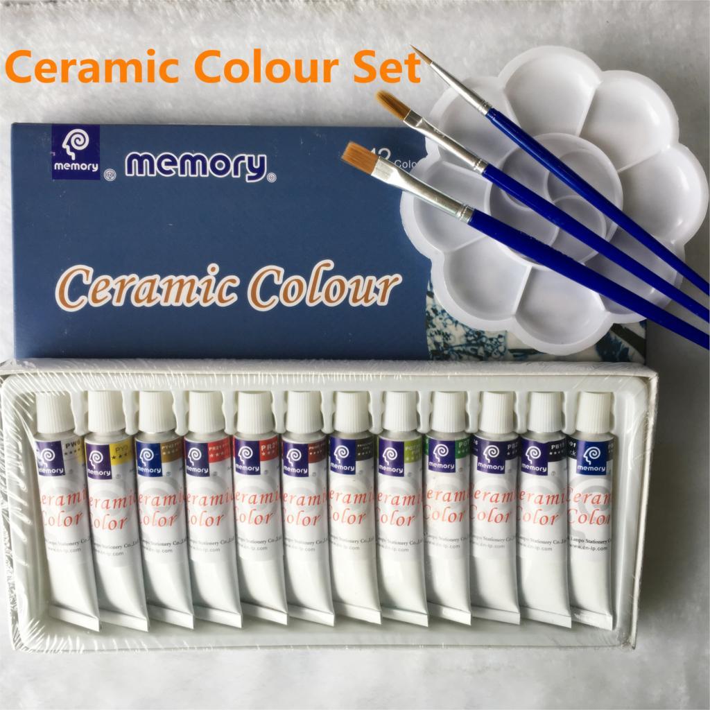 12 Colors 12ML Color Set Acrylic Paint Ceramics Paint Glass Paint Color Glass Drawing Hand Painted Pigments Set свитшот print bar paint color