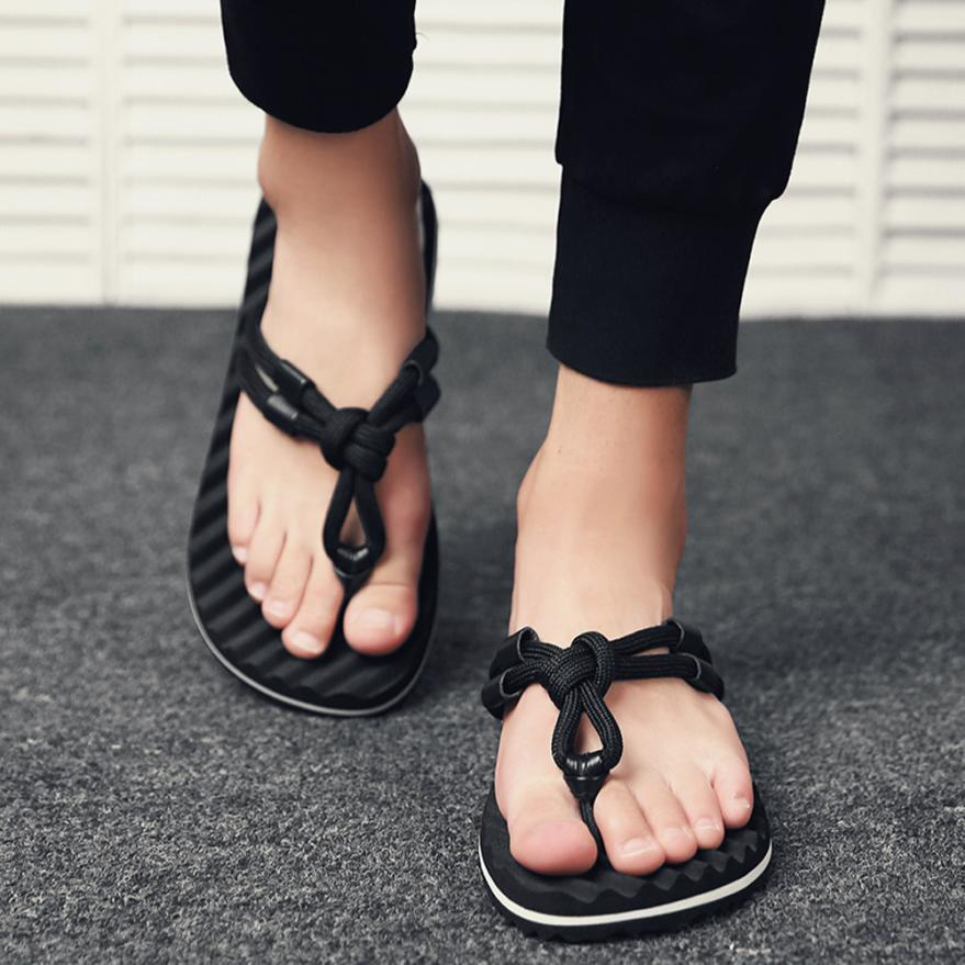 2018 Summer Men Shoes Mens Flat Slippers Male Flip Flops -8684