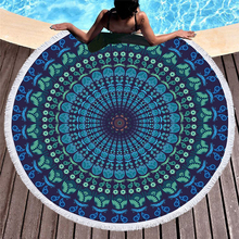 1500MM Large Round Beach+Towels for Adults Microfiber Bohemia Clothes  Bath Towel Beach Towels Travel Summer E1