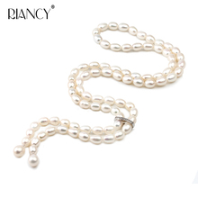 Fashion Natural Freshwater Long Pearl Necklace Various lengths pearl Pendant Necklace For Women wedding gift 100% genuine fashion pearl necklace natural freshwater pearl long necklace charm accessories statement necklace for women gift