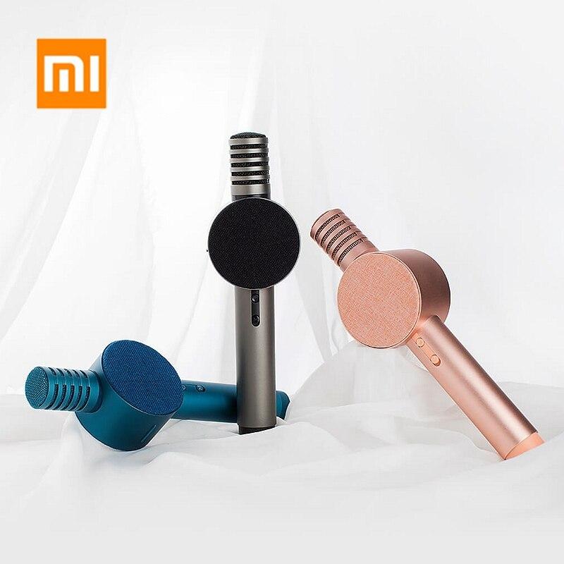 Original Xiaomi Mijia KTV Handheld Drahtlose Bluetooth Mikrofon Lautsprecher Box Karaoke Sound Mikrofon Nachhall Lautsprecher-in Smarte Fernbedienung aus Verbraucherelektronik bei  Gruppe 1