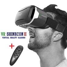 ต้นฉบับ3D VR Shinecon 2.0ความจริงเสมือนกล่องเกมวิดีโอภาพยนตร์แว่นตาG Oogleกระดาษแข็งหมวกกันน็อคสำหรับ4.7-6.0มาร์ทโฟน+ Gamepad