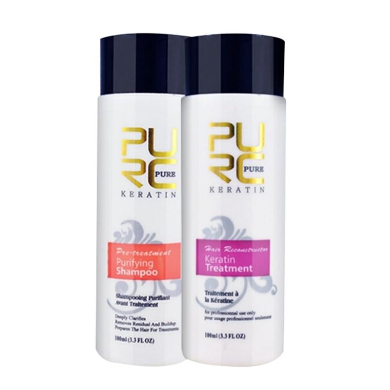Straightening hair Repair and straighten damage hair products Brazilian keratin treatment + purifying shampoo