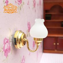 1:12 Dollhouse Miniatures Тюльпан цветок тип настенный светильник СВЕТОДИОДНЫЙ свет, Работающий От Батареи Бесплатная Доставка