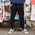 VIISHOW Случайные Штаны Мужчины Прямые Темно-Брюк Мужская Одежда Костюмы Хип-Хоп Брюки Мужчины KCZ9963