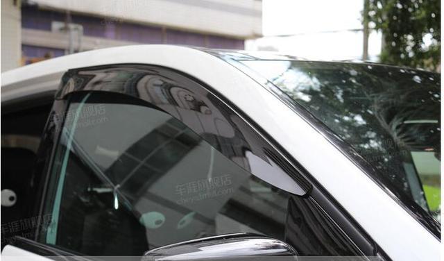 4 pcs Viseira Janela Defletor Guarda Escudo Plástico Para Benz A Classe W176 2012-2014
