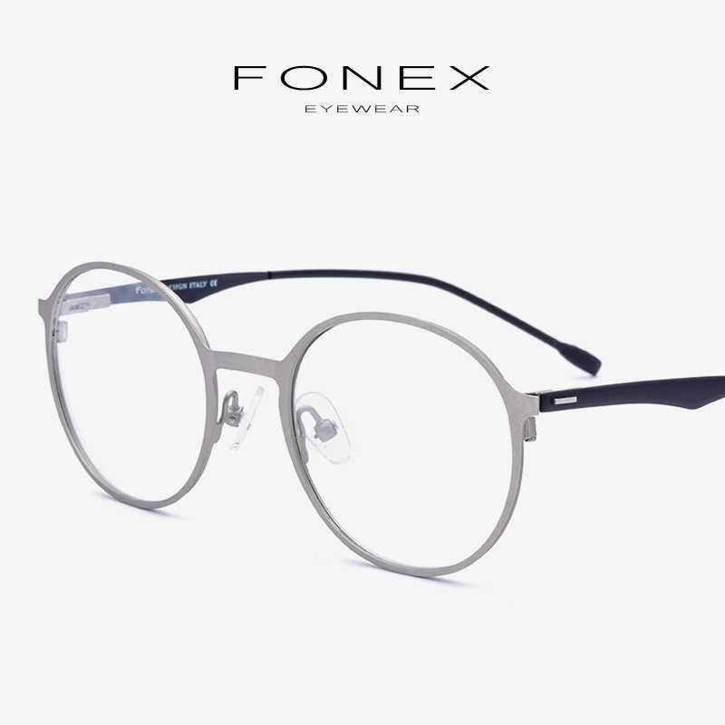 f94cd5b089 Aleación gafas marco hombres ultraligero receta miopía óptica gafas de Marco  Retro mujeres coreano sin tornillos