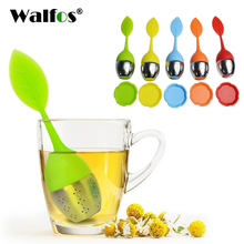 WALFOS 1 piece silicone Teapot Sweet Leaf Tea Infuser best Silicone