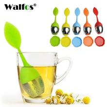 WALFOS Tea Infuser Stainless Steel Tea Ball Leaf Food Grade Flavor Total Tea Infuser Gadget Ilicone Tea Infuser Tea Bag Teapot
