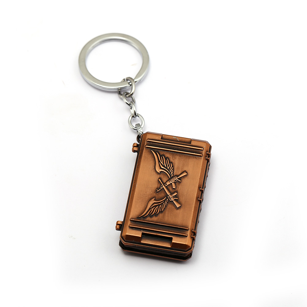 US $2 95 11% OFF J Store Game PUBG Triumph Crate Keychain Treasure Box Key  Playerunknown's Battlegrounds Chaveiro 12943-in Key Chains from Jewelry &