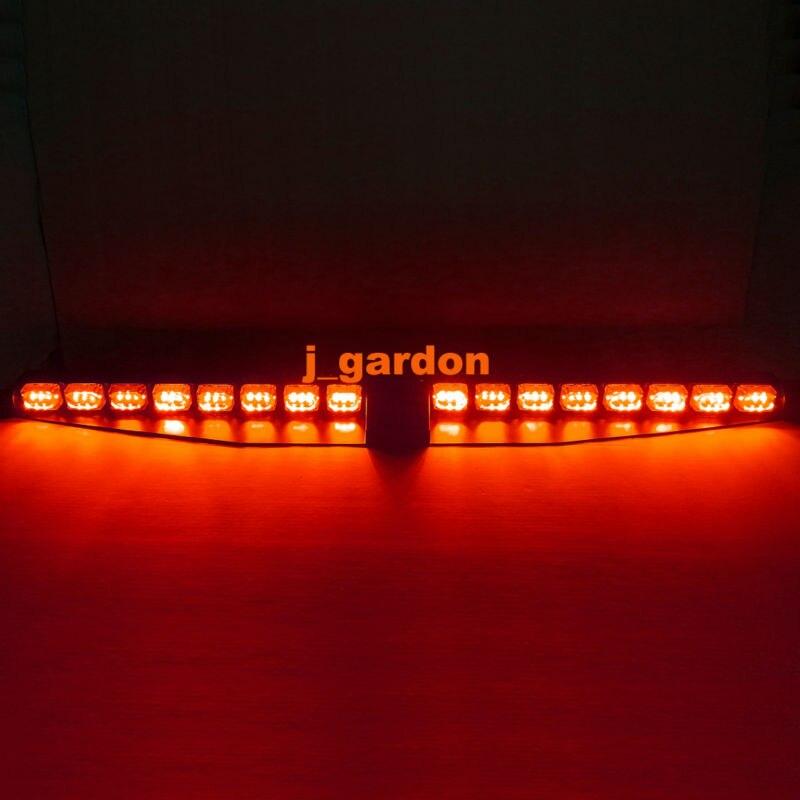 Вслед за 2 х 24 LED 1 Вт Красный светодиод эксклюзивный сплит козырек палуба тире Световая опасности Строб аварийного предупреждение lightbar водить