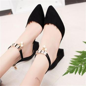 2018 New Women Pumps Fahion Peep Toe High Heels Shoes Wedding Party Elegant Flock Casual Shoes Women
