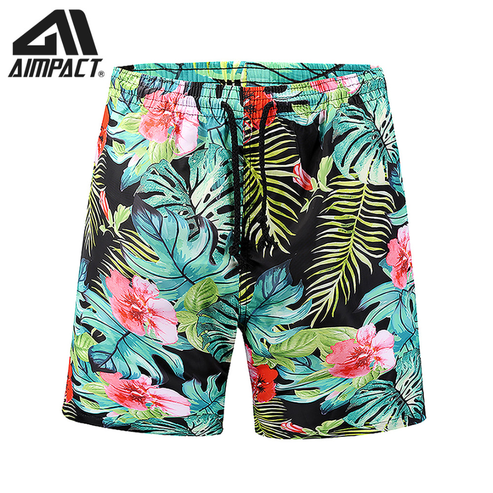 New Men's Hawaii Beach Board Shorts Quick Dry Swim Trunks Printed Beachwear Swimwear Bathing Suits Boardshorts Sexy Beach Trunks