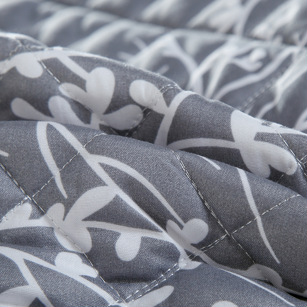 3D Printed White Branch Bedspread Gray Comforter 3 Pieces Skirt Design Summer Thin Quilt with 2 Pillowcase Air Conditioner Quilt - 6