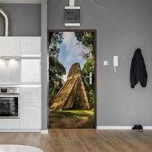 3D винтажные шаг каменные наклейки на стену водонепроницаемые Обои DIY Съемные Фрески самоклеющиеся для гостиной спальни детской комнаты