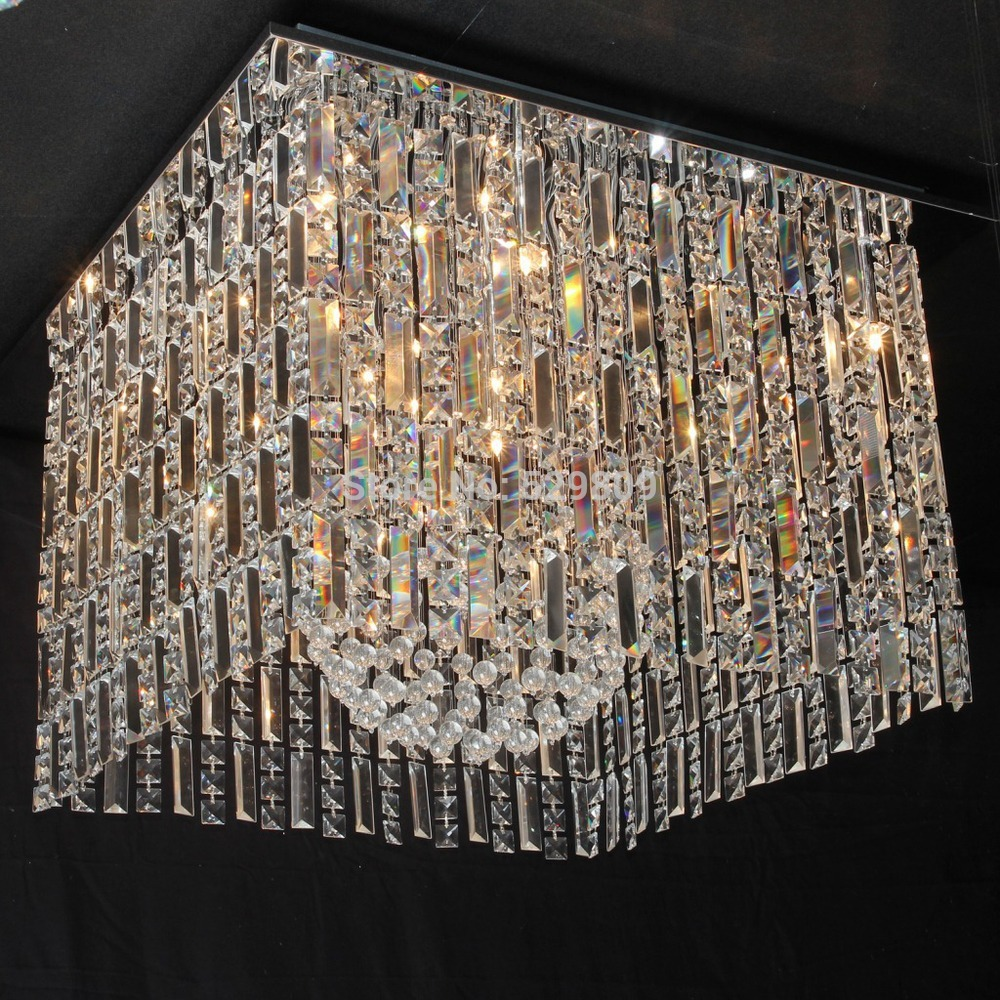 Square crystal chandelier thejots compare prices on crystal chandelier square online shoppingbuy lighting ideas mozeypictures Images