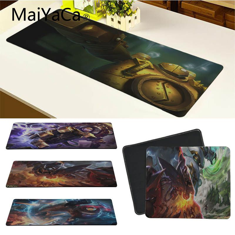 MaiYaCa Non Slip PC Blitzcrank Laptop Gaming Mice Mousepad Size for 18x22cm 20x25cm 25x29cm 30x90cm 40x90cm