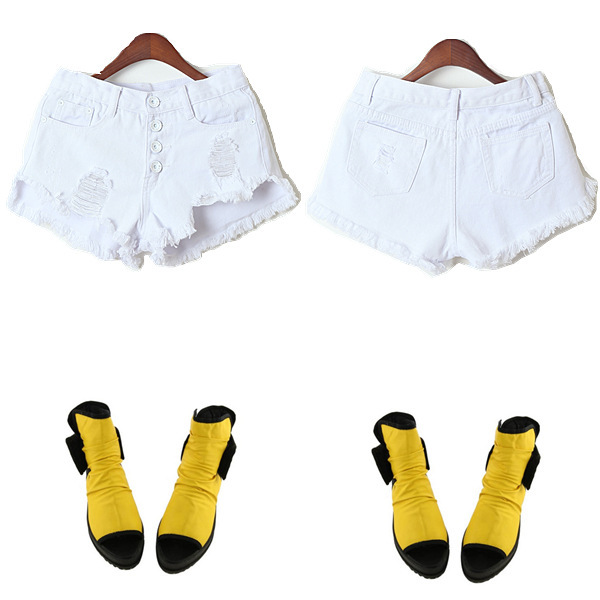 Aliexpress.com : Buy Sale Women Denim White Shorts Destructed ...