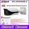 Free shipping New Dahua 4K IPC-HFW4800E upgraded to IPC-HFW4830E-S Ultra HD Network Small IR Bullet IP Camera English Firmware