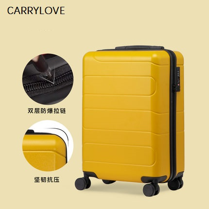 perfect solid color 20/24/28 Inch size Classic fashion handbag and Rolling Luggage Spinner brand Travel Boarding Suitcase - 5