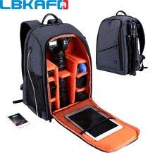 LBKAFA Открытый Портативный водостойкий устойчивый к царапинам Двойной плечевой рюкзак аксессуары для камеры Сумка цифровой DSLR фото видео сумки