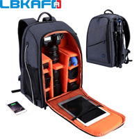 LBKAFA Outdoor Portable Waterproof Scratch proof Dual Shoulder Backpack Camera Accessories Bag Digital DSLR Photo Video Bags